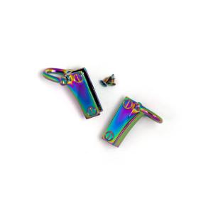 Side Edge Strap Anchor Set Iridescent Rainbow (2pk)