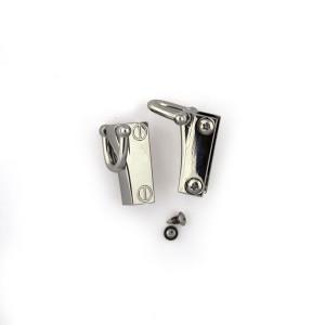 Side Edge Strap Anchor Set Silver (2pk)