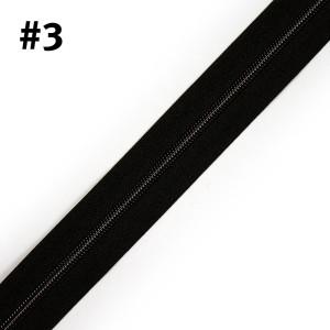 "Voodoo Bag Hardware (Size #3) Handbag Zipper Black Tape with Gunmetal Teeth 3m (157"") No Pulls"