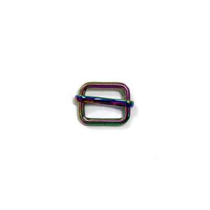 "Voodoo Bag Hardware Slide Adjusters 20mm (3/4"") Iridescent Rainbow 2pk"