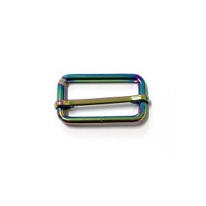 "Voodoo Bag Hardware Slide Adjusters 40mm (1-1/2"") Iridescent Rainbow 2pk"