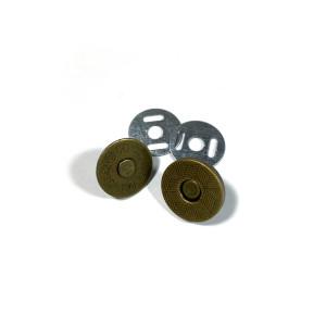 "Voodoo Bag Hardware Magnetic Catch Slim 14mm (5/8"") Antique Brass - 1pk"