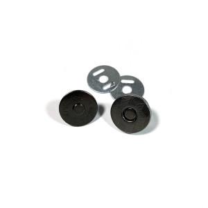 "Voodoo Bag Hardware Magnetic Catch Slim 14mm (5/8"") Gunmetal - 1pk"