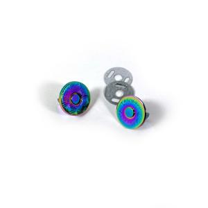 "Voodoo Bag Hardware Magnetic Catch Slim 14mm (5/8"") Iridescent Rainbow - 1pk"