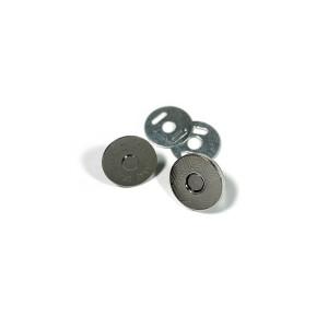 "Voodoo Bag Hardware Magnetic Catch Slim 14mm (5/8"") Silver - 1pk"