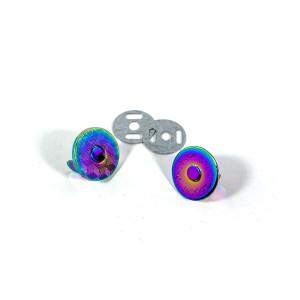 "Voodoo Bag Hardware Magnetic Catch Slim 18mm (3/4"") Iridescent Rainbow - 1pk"