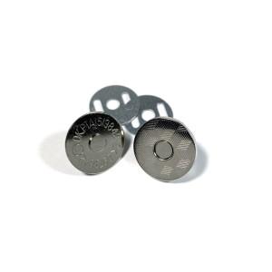 "Voodoo Bag Hardware Magnetic Catch Slim 18mm (3/4"") Silver - 1pk"