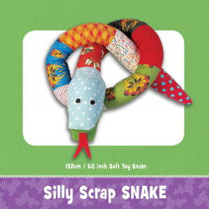 Silly Scrap Snake Soft Toy Pattern by Funky Friends Factory