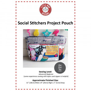Social Stitchers Project Pouch Sewing Pattern by Little Moo Designs