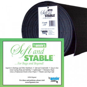 """ByAnnie's Soft and Stable Foam Stabiliser 58"""" (147cm) Wide Black"""