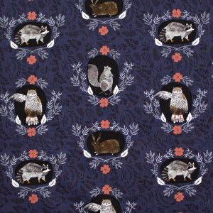Foxtail Forest Beyond the Brush Navy by Dear Stella