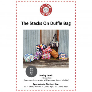 Stacks On Duffle Bag Sewing Pattern by Little Moo Designs