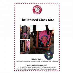 Stained Glass Tote Sewing Pattern by Little Moo Designs