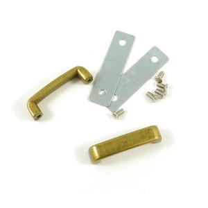 "Emmaline Bags Strap Keeper 25mm (1"") Antique Brass - 2pk"