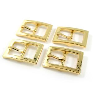 """Emmaline Bags Buckle w/ Center Bar 20mm (3/4"""") Gold - 4pk"""