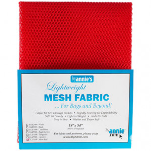 Mesh Fabric Light Weight - Atom Red from by Annie