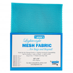 Mesh Fabric Light Weight - Parrot Blue from by Annie
