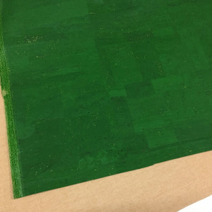 """Portuguese Surface Cork Grass Green - Sizing from 70cm x 50cm (27-1/2"""" x 19-1/2"""")"""