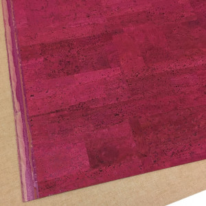"PRE-ORDER Portuguese Surface Cork Hot Pink - Sizing from 70cm x 50cm (27-1/2"" x 19-1/2"")"