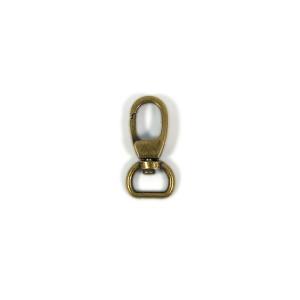 "Voodoo Bag Hardware Swivel Snap Hook 12mm (1/2"") Antique Brass 2pk"