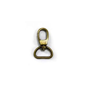 "Voodoo Bag Hardware Swivel Snap Hook 20mm (3/4"") Antique Brass 2pk"