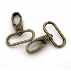 "Voodoo Bag Hardware Swivel Snap Hook 31mm (1-1/4"") Antique Brass - 4pk"