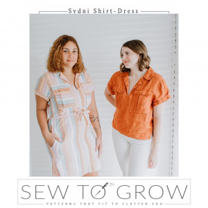 Sydni Shirt-Dress Sewing Pattern by Sew To Grow
