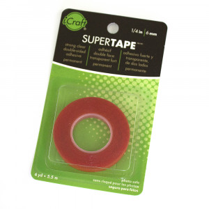 "Therm-o-web Supertape Strong Clear Double-sided Adhesive Permanent Tape 6mm (1/4"") x 5.5m (6 Yds)"