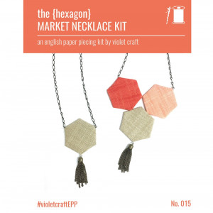 Hexagon Market Necklace - An English Paper Piecing Kit by Violet Crafts