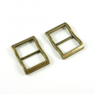 """Emmaline Bags Wide Mouth Strap Sliders (Extra Wide) For thicker straps 25mm (1"""") Antique Brass - 2pk"""