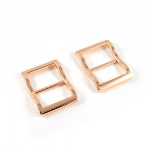 """Emmaline Bags Wide Mouth Strap Sliders (Extra Wide) For thicker straps 25mm (1"""") Copper - 2pk"""