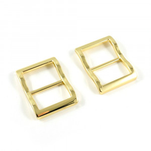 """Emmaline Bags Wide Mouth Strap Sliders (Extra Wide) For thicker straps 25mm (1"""") Gold - 2pk"""