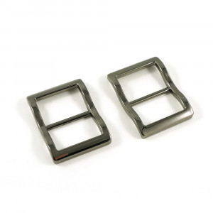 """Emmaline Bags Wide Mouth Strap Sliders (Extra Wide) For thicker straps 25mm (1"""") Gunmetal - 2pk"""