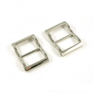 """Emmaline Bags Wide Mouth Strap Sliders (Extra Wide) For thicker straps 25mm (1"""") Silver - 2pk"""