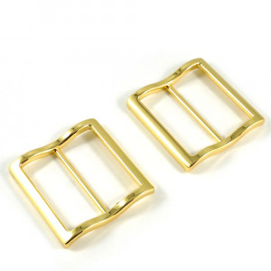 "Emmaline Bags Wide Mouth Strap Sliders (Extra Wide) For thicker straps 40mm (1-1/2"") Gold - 2pk"