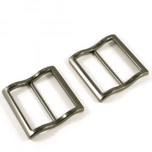 """Emmaline Bags Wide Mouth Strap Sliders (Extra Wide) For thicker straps 40mm (1-1/2"""") Gunmetal - 2pk"""