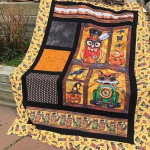 Steampunk Halloween Window Boxes Quilt Kit