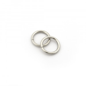 "Voodoo Bag Hardware Wire O-Ring 15mm (5/8"") Silver - 4pk"