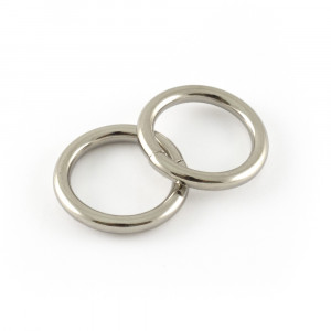 """Voodoo Bag Hardware Wire O-Ring 20mm (3/4"""") Silver - 4pk"""
