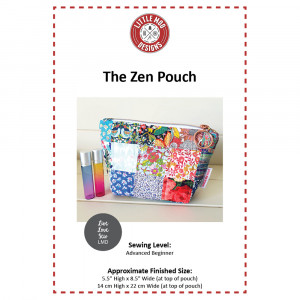 The Zen Pouch Sewing Pattern by Little Moo Designs