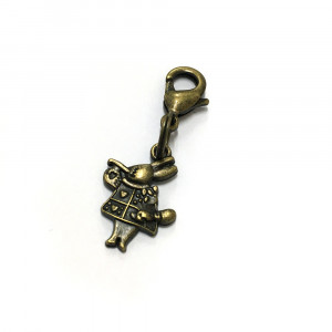 Voodoo Zipper Pull - White Rabbit Antique Brass