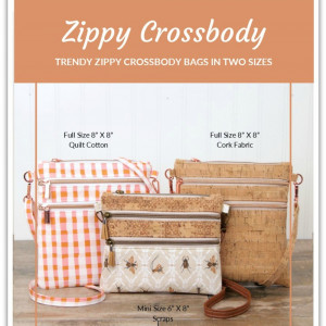 Zippy Cross Body Bag Sewing Pattern by Sallie Tomato