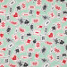 Wonderland Playing Cards Mint by Blend Fabric