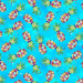 Party Animals Pineapples Turquoise by 3 Wishes Fabric