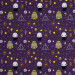 Harry Potter Halloween Kawaii Dark Arts Purple by Camelot Fabrics