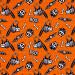 Glow Ghosts Glow in the Dark Animal Skeletons Orange by Henry Glass Fabrics