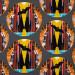 Charley Harper Halloween Bat Cave by Birch Organic Fabrics
