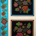 "Tucson Embroidered Flowers 60cm (24"") Panel Black by Elizabeth Studios"