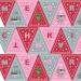 "Christmas Glow Bunting 18"" Fabric Panel Grey by Lewis & Irene"