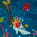 Jardin de la Reine Royal Expedition Teal By Free Spirit Fabric